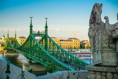Liberty bridge in Budapest, Hungary royalty free stock images