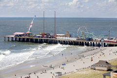 The famous Steel Pier in Atlantic City, New Jersey Stock Image