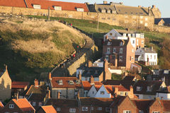 The famous steps at Whitby. Stock Images