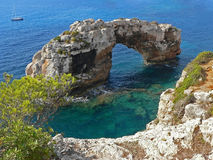 Famous stone arch, majorca sa torre, spain Royalty Free Stock Photo