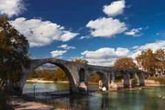 The famous stone bridge of Arta, Greece. Stock Image