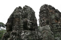 Famous stone faces in Angkor Royalty Free Stock Image