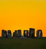 The famous Stonehenge in England Stock Photo