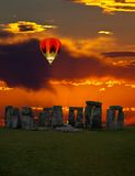 The famous Stonehenge in England. On a sunrise background royalty free stock photography