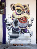 Famous Street Art Mural in Georgetown, Penang, Malaysia Stock Images