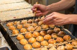 Famous street food of Dotonbori, Osaka - Japan.  Stock Images