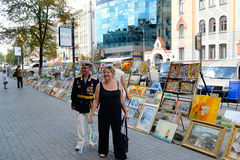 Famous street of Kiev 'Andreyevskiy spusk' Royalty Free Stock Photo