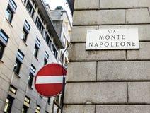 Famous street Montenapoleone Stock Image