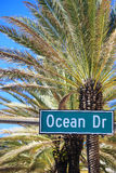 Famous street Ocean Drive Stock Image