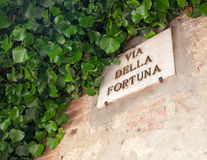 The famous street of Pienza, Via della Fortuna. Royalty Free Stock Images