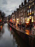 The famous street red light district in Amsterdam. Netherlands Stock Images