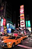 Times Square in Manhattan, New York City, USA. The famous street of Times Square in Manhattan by night, New York City, USA stock photo