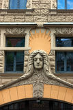 Famous stucco facades in the old town of Riga Royalty Free Stock Photos
