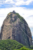 Famous Sugar Loaf mountain in Rio de Janeiro Stock Images