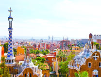 The Famous Summer Park Guell Royalty Free Stock Photography