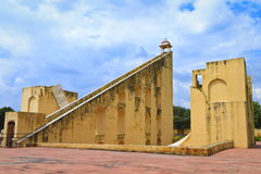 The Famous Sundial At Jantar Mantar. The Giant Sundial, known as the Samrat Yantra (The Supreme Instrument) is the world's largest sundial at Jaipur Jantar stock photography