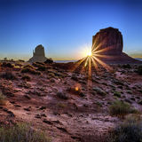 Famous sunrise at Monument Valley Royalty Free Stock Image
