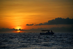 Famous sunset at Key West Royalty Free Stock Photo