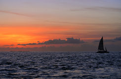 Famous sunset at Key West, FL Stock Photo