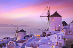The famous sunset at Santorini in Oia village. Greece, Europe Stock Image