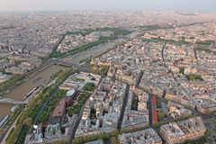 Famous sunset view of Paris Stock Image