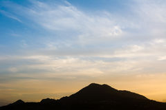 Famous sunset with vlue sky in Tamsui Royalty Free Stock Images