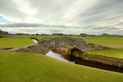 The famous Swilcan bridge on St Andrew Old Course royalty free stock photography