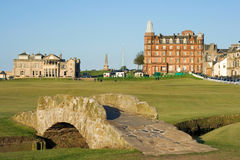 The famous Swilcan bridge on St Andrews Old Course Royalty Free Stock Photo