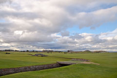 The famous Swilcan bridge on St Andrews Old Course stock photos