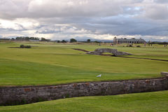 The famous Swilcan bridge on St Andrews Old Course Royalty Free Stock Image