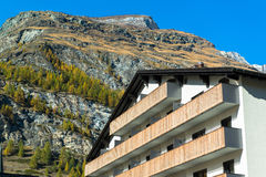 Famous swiss city Zermatt in the valley near the swiss-italian border Stock Photography