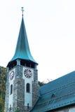 Famous swiss city Zermatt in the valley near the swiss-italian border Royalty Free Stock Photos