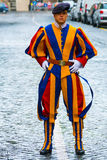 Famous Swiss Guard at Vatican City - The Swiss Guards in Rome. ROME, ITALY - NOVEMBER 5, 2016 stock image