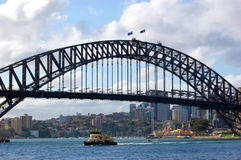 Famous Sydney Harbour Bridge in Australia Royalty Free Stock Image