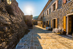 Famous symbol of the old fortress in Budva Adriatic Montenegro Stock Photography
