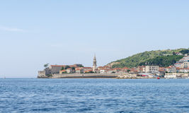 Famous symbol of the old fortress in Budva Adriatic Montenegro Royalty Free Stock Image