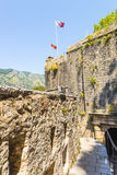 Famous symbol of the old fortress in Kotor Adriatic Montenegro Stock Image
