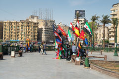 The famous Tahrir square in Cairo Stock Photos