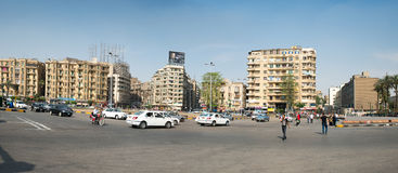 The famous Tahrir square in Cairo Stock Image
