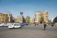The famous Tahrir square in Cairo Royalty Free Stock Photography