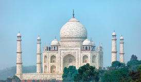 Famous Taj Mahal from an unusual angle. Agra, India Royalty Free Stock Images