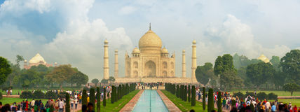 Famous Taj Mahal, visited by thousands of tourists every day. Ar. The famous Taj Mahal, visited by thousands of tourists every day. Arga, India Stock Images