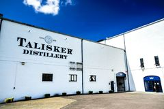 Talisker Distillery - Closeup. The famous Talisker Distillery. It is the old distillery on the Isle of Skye, Carbost, Scotland royalty free stock photos