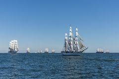 Famous tallships under sail Royalty Free Stock Photos