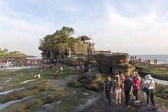 Famous Tanah Lot Temple on Sea in Bali Island Indonesia Stock Photos
