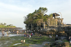 Famous Tanah Lot Temple on Sea in Bali Island Indonesia Stock Images