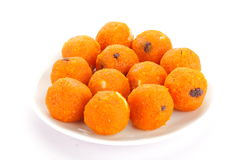 Famous and tasty   Indian orange  ladoo Royalty Free Stock Photos