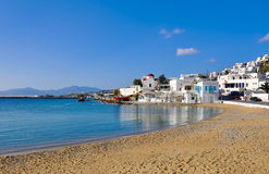 The famous Tavern on bay of island of Mykonos Royalty Free Stock Photography