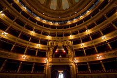 Teatro Massimo, Palermo, Italy. Famous Teatro Massimo in Palermo, Sicily, Italy Stock Image