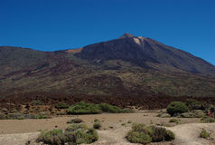 The famous Teide Mountain 1. This is a famous mountain in the Canary Islands. It is Teide. Actually it is the highest mountain in Spain Royalty Free Stock Images